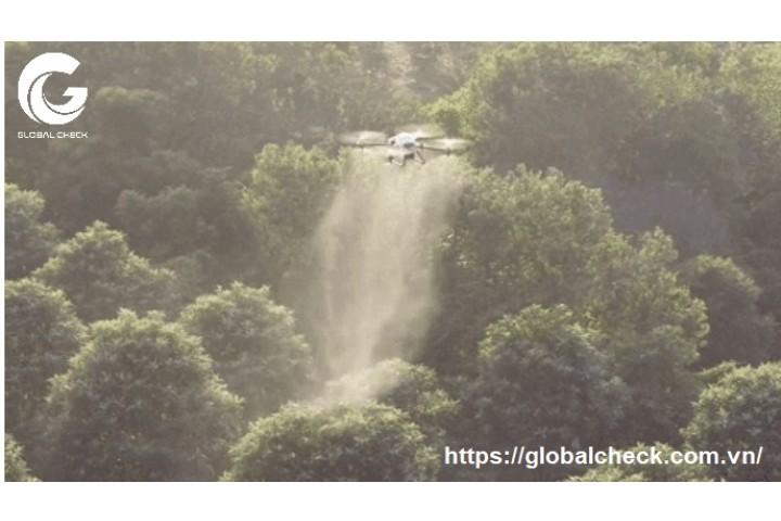 Máy bay phun thuốc nông nghiệp công nghệ phun ly tâm - Có phải phun nhiều thuốc mới tốt?