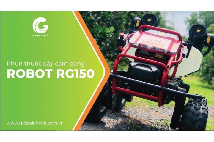 Robot RG150 Phun Thuốc Cho Cây Cam ở Bình Dương