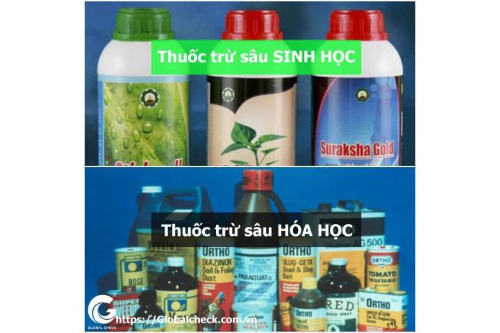 Phân biệt thuốc trừ sâu sinh học với hóa học