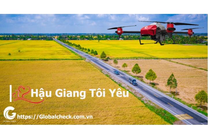 Máy bay phun thuốc, gieo sạ giống tại Hậu Giang | Globalcheck