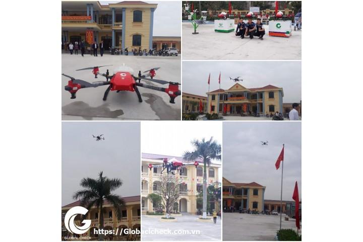 Máy bay phun thuốc khử trùng phục vụ Đại Hội Đảng Bộ Ninh Bình