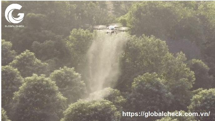 máy bay phun thuốc nông nghiệp công nghệ ly tâm